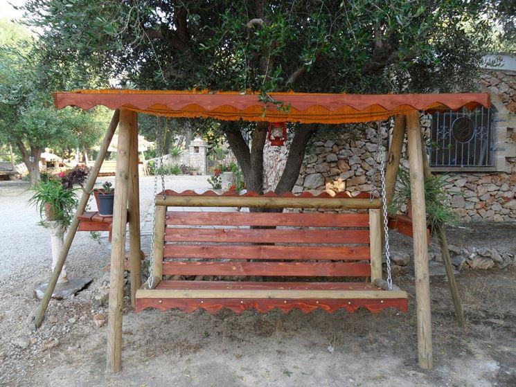 Dondolo da giardino in legno arredamento giardino - Oggetti per giardino ...