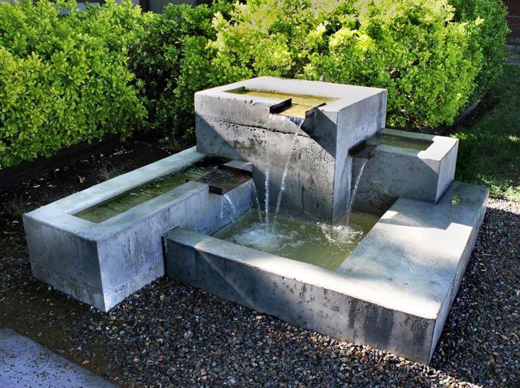 Fontane da giardino arredamento giardino tipologie di for Decorazione giardino fai da te