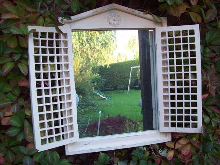 finta finestra con specchio