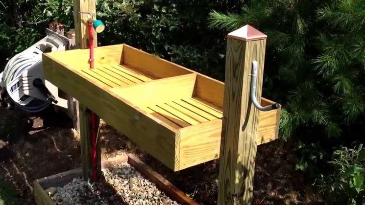 Lavatoio da esterno arredamento giardino for Mobile esterno legno