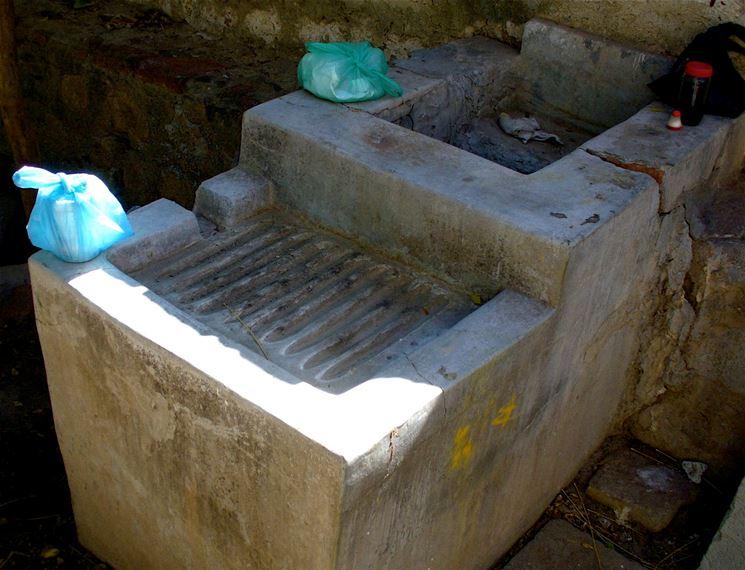 Il lavatoio da esterno in muratura
