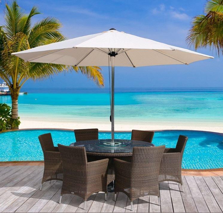Ombrellone da esterno moderno e tecnologico arredamento for Arredamento giardino usato