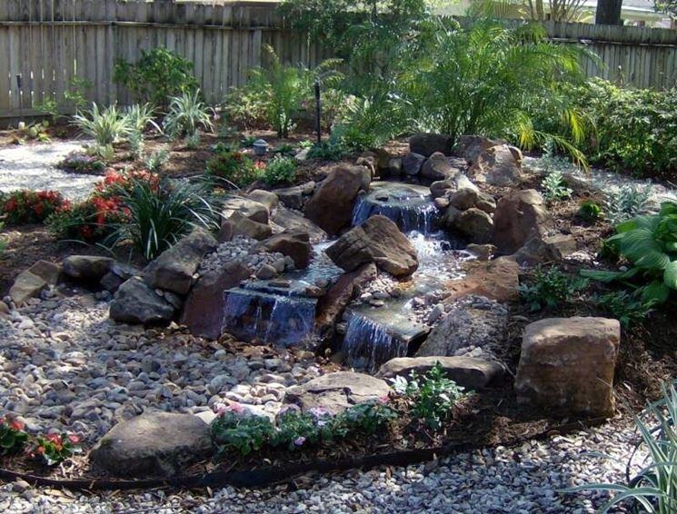 Cascata Giardino Fai Da Te : Piccola cascata con ciottoli in giardino come costruirla