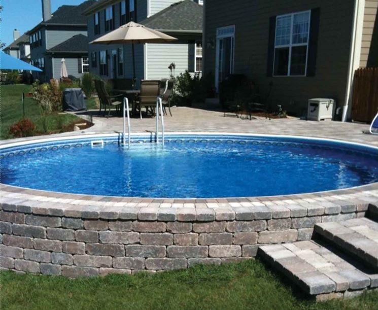 Piscine fuori terra arredamento giardino - Rivestire piscina fuori terra fai da te ...