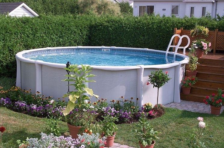 Piscine fuori terra arredamento giardino for Piscina in un giardino piccolo