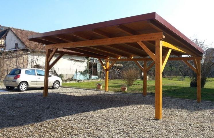 tettoia in legno fai da te arredamento giardino