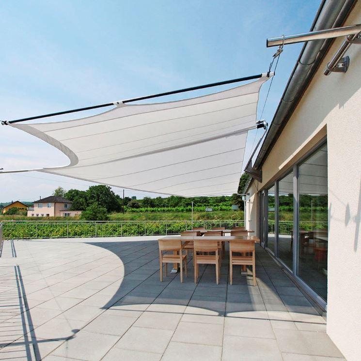 Vele ombreggianti arredamento giardino modelli e utilizzi delle vele ombreggianti - Tende a vela per esterno ...