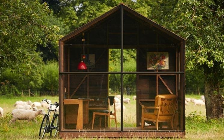 Semplice baracca da giardino