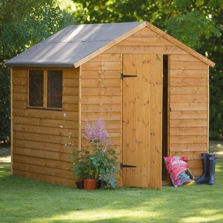 Casetta da giardino in legno prefabbricata