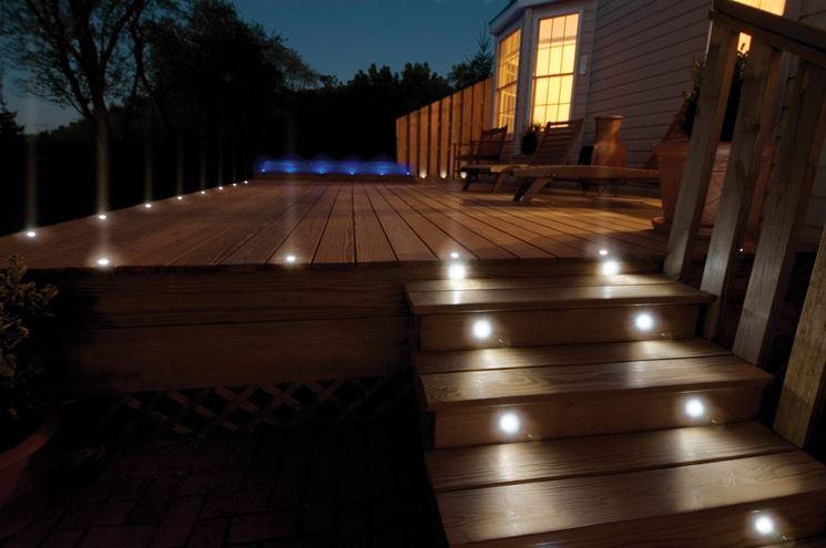 Illuminazione per esterni illuminazione giardino come
