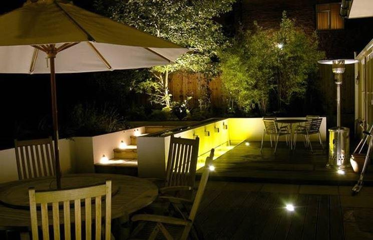 Mettere le luci in giardino illuminazione giardino - Illuminare il giardino ...
