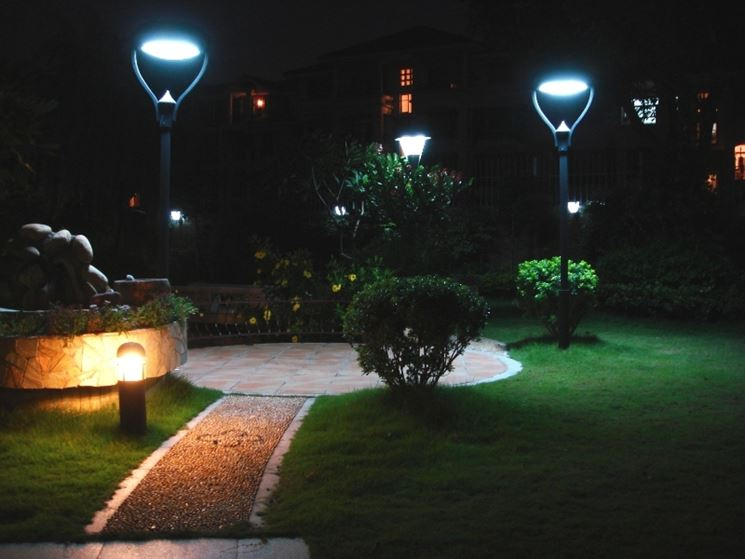Originali luci da esterno illuminazione giardino illuminazione