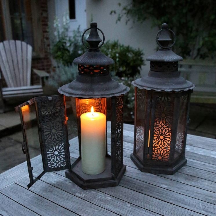 Originali luci da esterno illuminazione giardino - Lanterne esterno ...