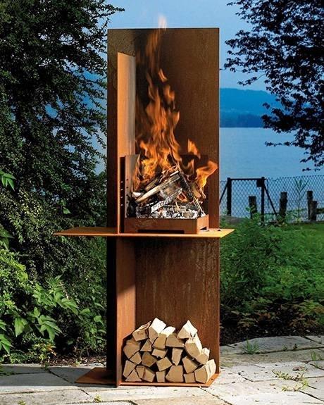 Caminetti da giardino materiali per il giardino - Camino da esterno ...