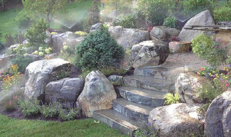 pietre per giardino materiali per il giardino tipi di