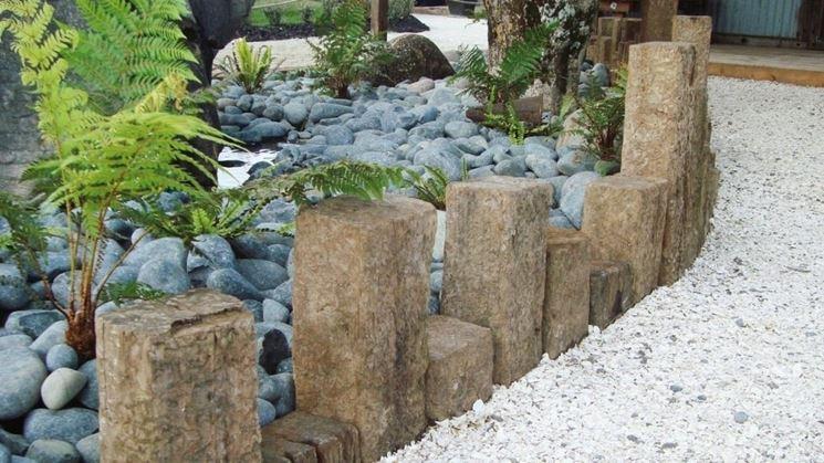 Pietre lavorate per giardino