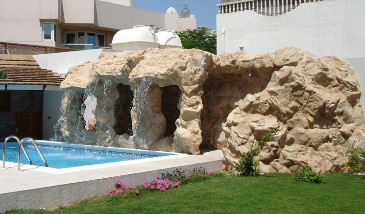 rocce artificiali in giardino