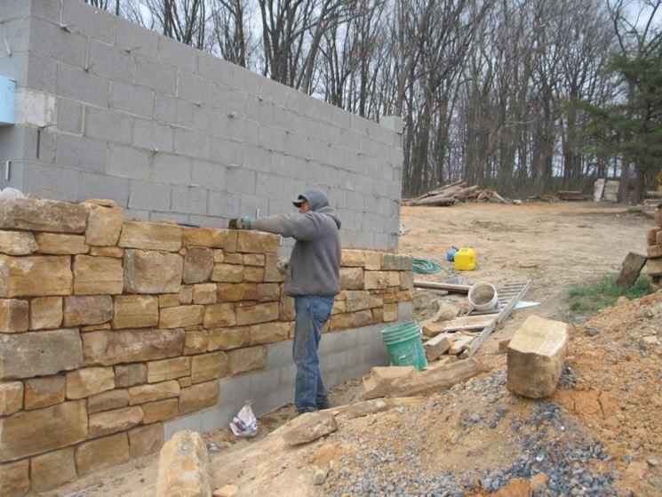 Muretti da esterno schemi di posa dei mattoni - Rivestimenti per esterno in pietra ...