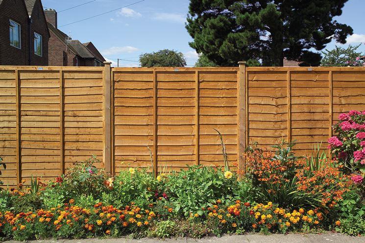 recinzione giardino in legno