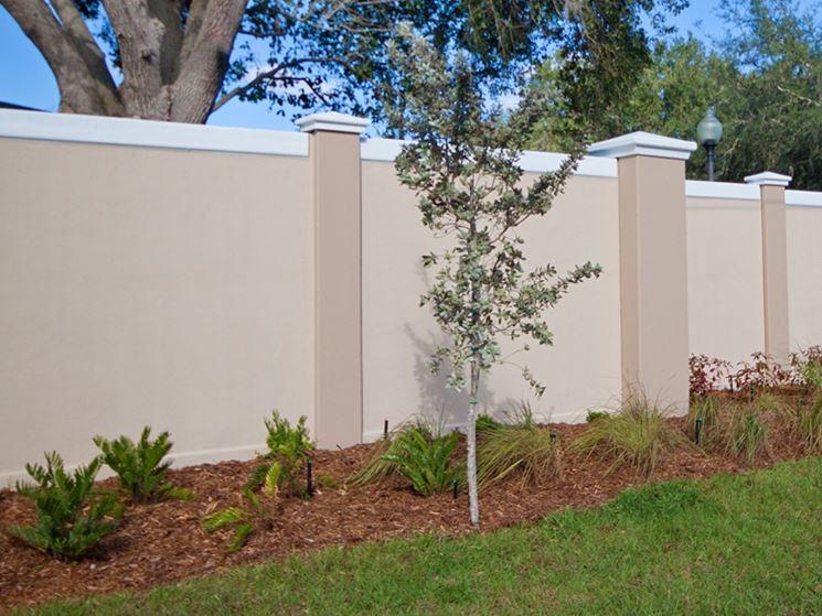 recinzione giardino in cemento