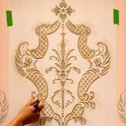 Come applicare stencil parete