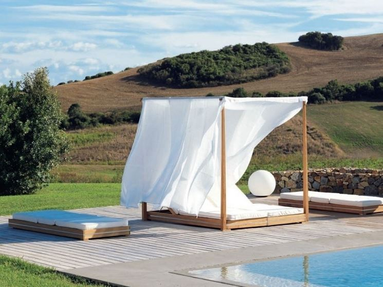 Tende esterno tende da sole tende per ambiente esterno for Pool canopy bed