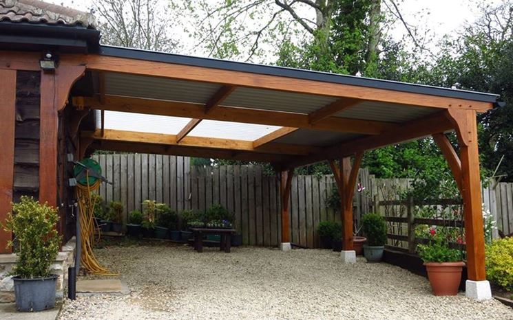 come costruire una tettoia per auto - tettoie e pensiline