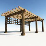 Esempio di pergolato in legno