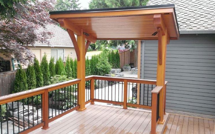 Pareti Di Legno Prezzi : Tettoia in legno prezzi tettoie e pensiline tettoie legno