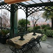 tettoie da giardino in plexiglass e ferro