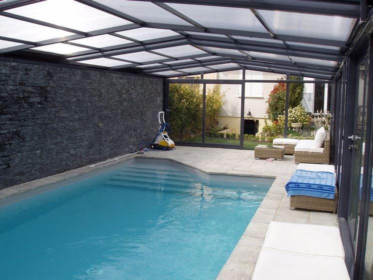 tettoia per piscina