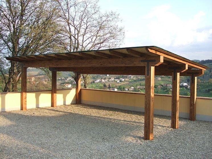 tettoie legno - tettoie e pensiline - caratteristiche delle tettoie
