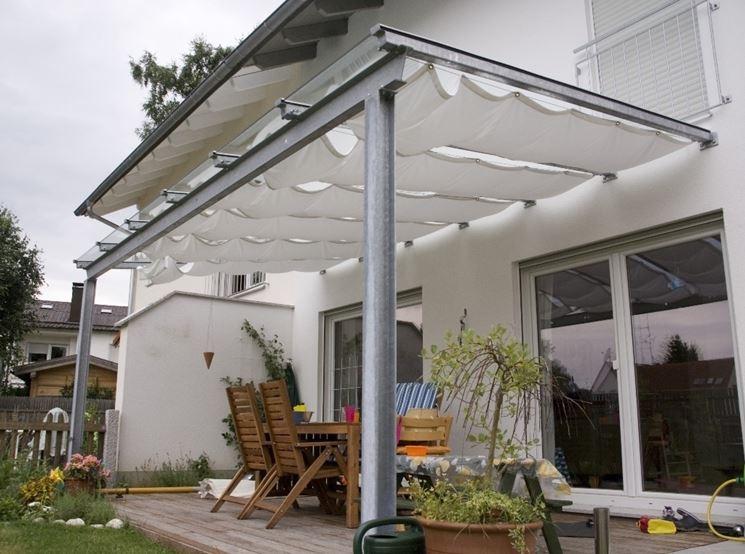 Tettoie per esterni tettoie e pensiline i modelli di - Tettoie in legno per esterno ...