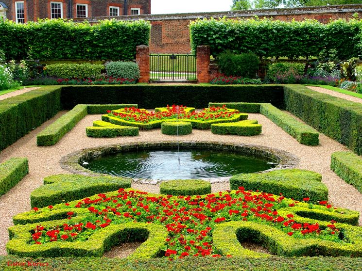 giardino alla francese tipi di giardini