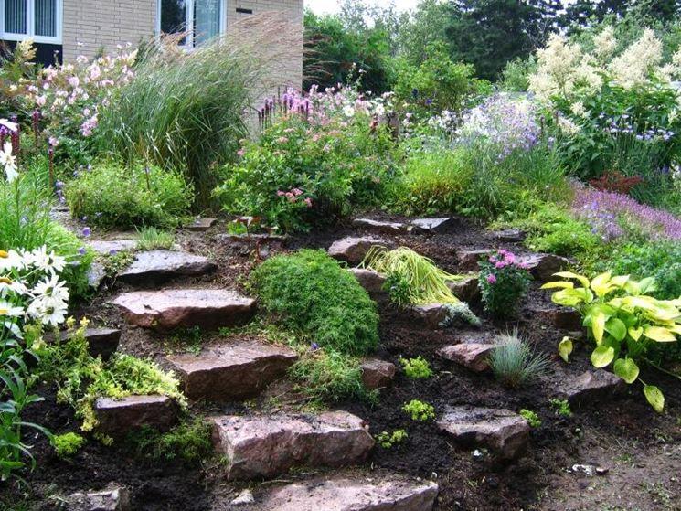 Amazing giardini rocciosi fai da te with giardini da for Sassi finti per giardini