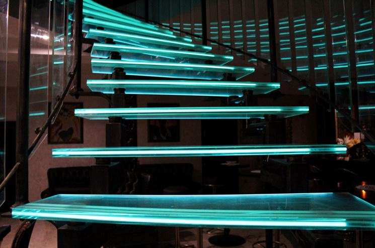 illuminazione scale a led