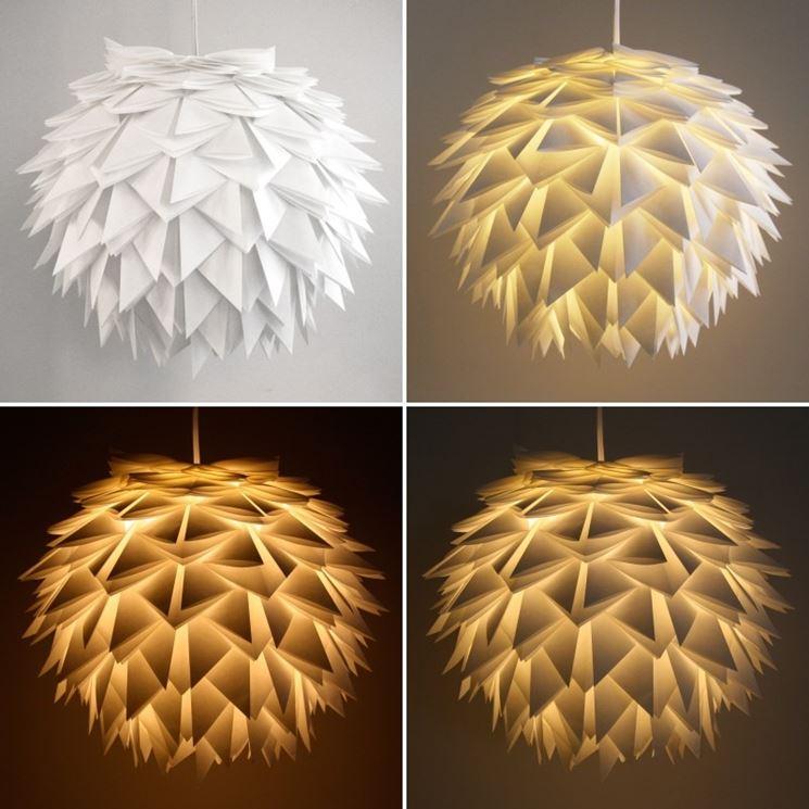 Lampadari a sospensione per la casa illuminazione - Lamparas de pie de papel ...