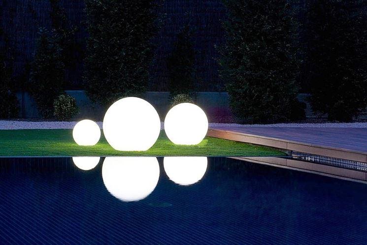 lampada per giardino