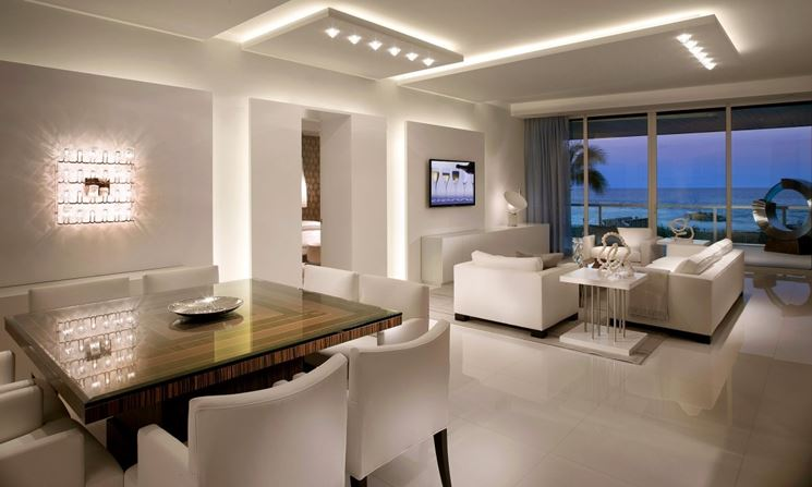 Faretti Led Per Interni Casa.Luce A Led Per Casa Cheminfaisant