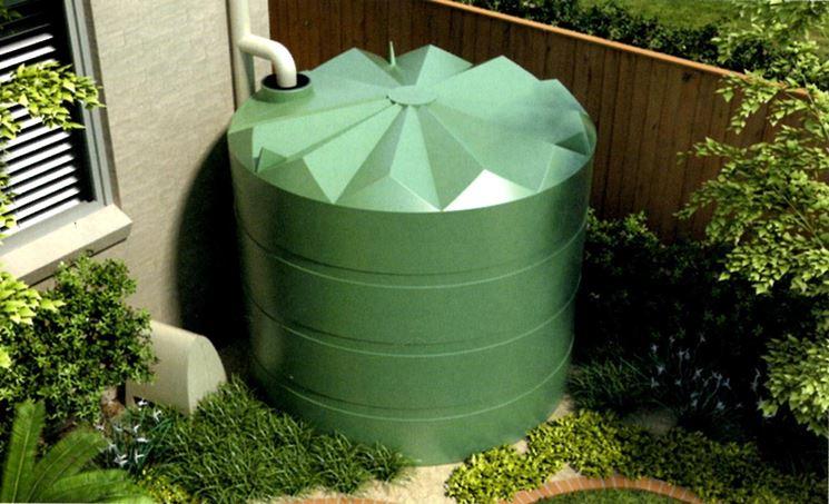 Cisterna per acqua da giardino