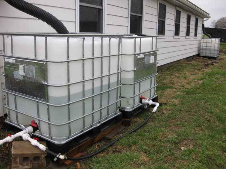 Serbatoio acqua piovana - Impianti Idraulici - Raccolta acque