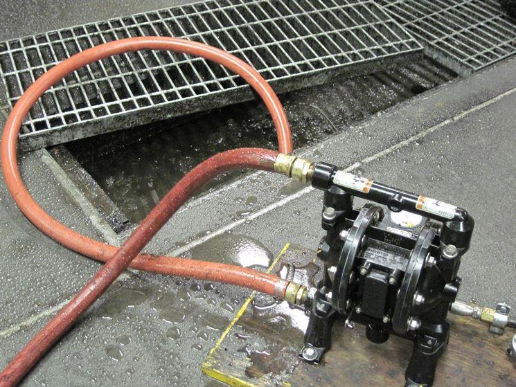 Pompa aspira acqua