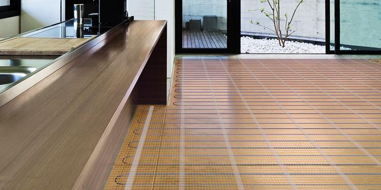 Esempio di riscaldamento a pavimento