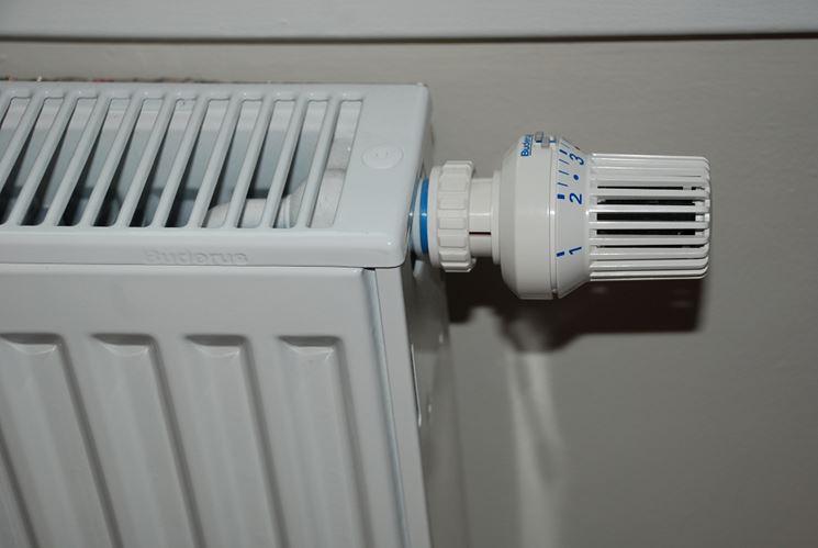 Valvola di scarico di un termosifone