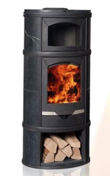 stufa a legna con forno per cucinare