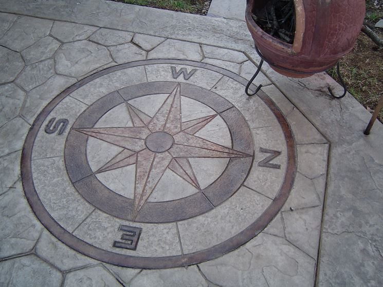Disegno nel pavimento