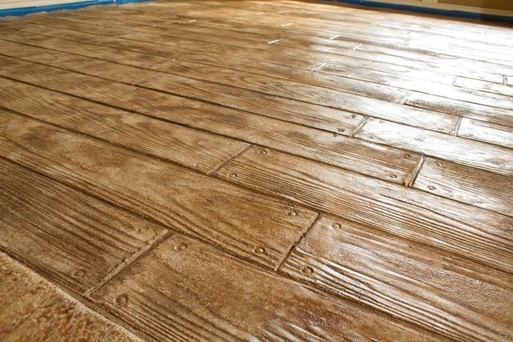 Imitazione di pavimento in legno