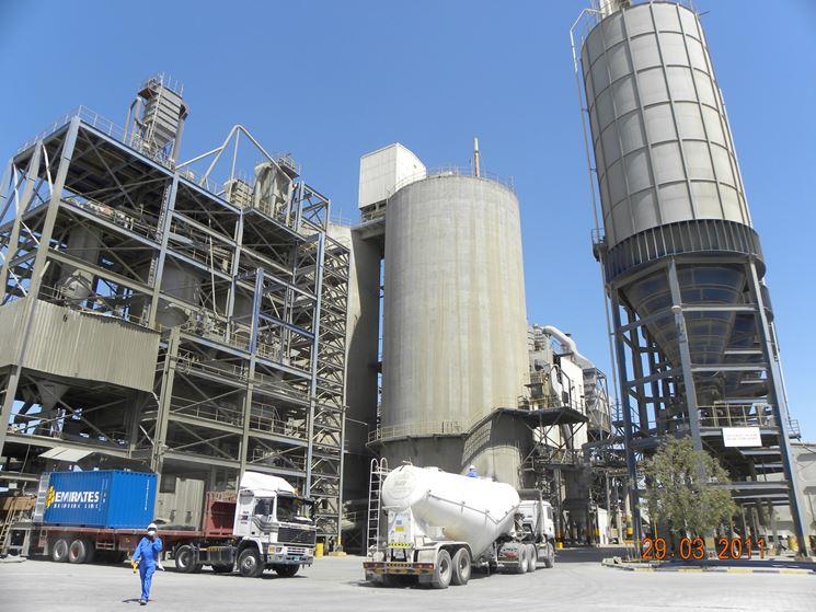 Impianto di produzione del cemento