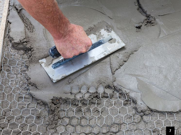Applicazione del cemento