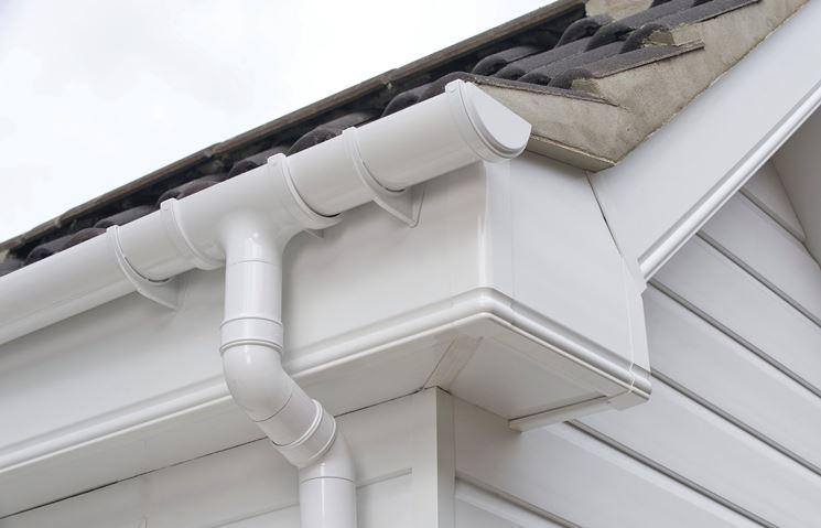 Grondaia in PVC bianco
